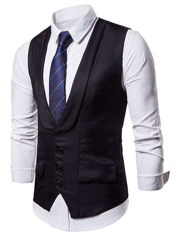 Cheap Solid Color Single Breasted Waistcoat