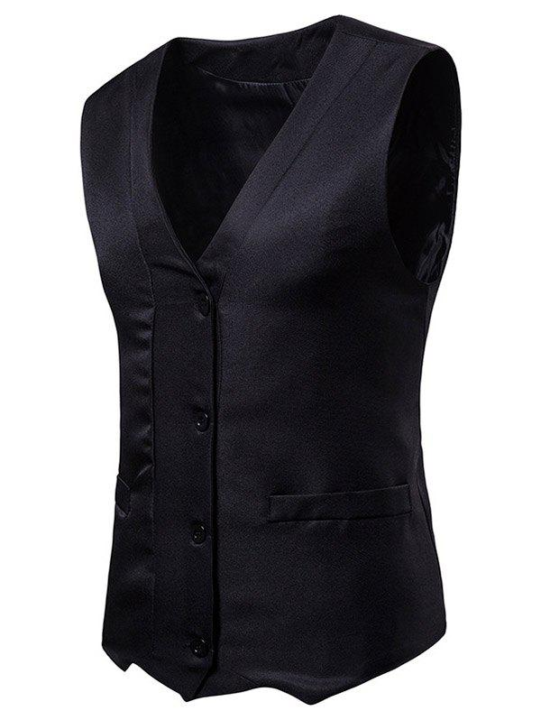 Trendy Irregularity Single Breasted V Neck Waistcoat