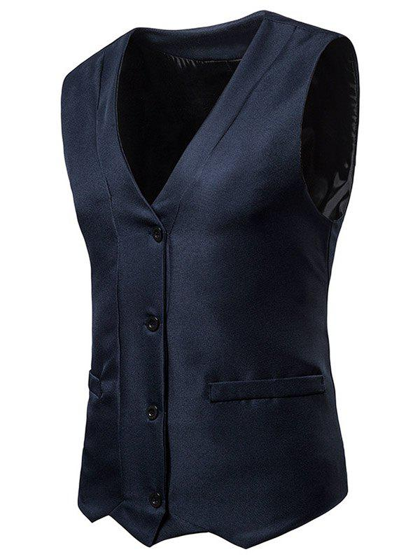 Hot Irregularity Single Breasted V Neck Waistcoat