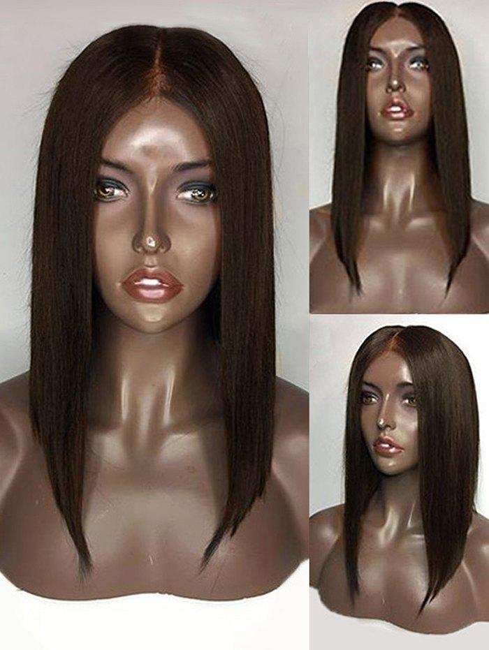 Latest Short Center Parting Straight Lace Front Human Hair Wig