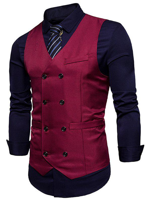 Shops Double Breasted V Neck Waistcoat
