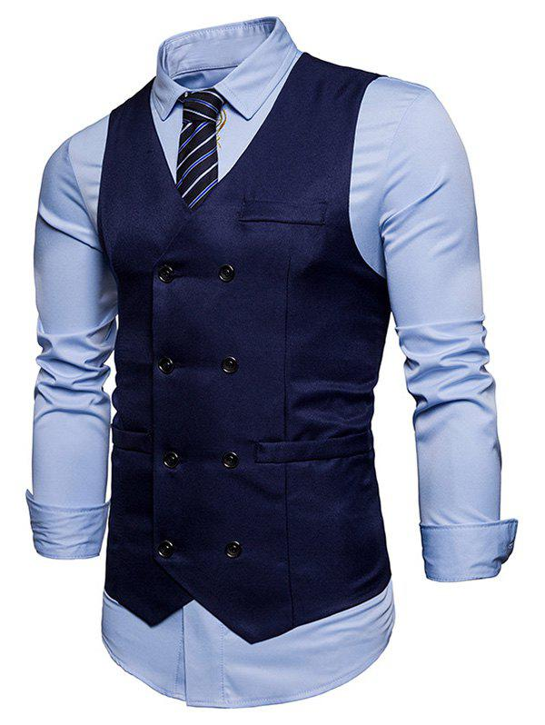New Double Breasted V Neck Waistcoat