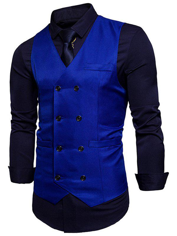 Outfits Double Breasted V Neck Waistcoat