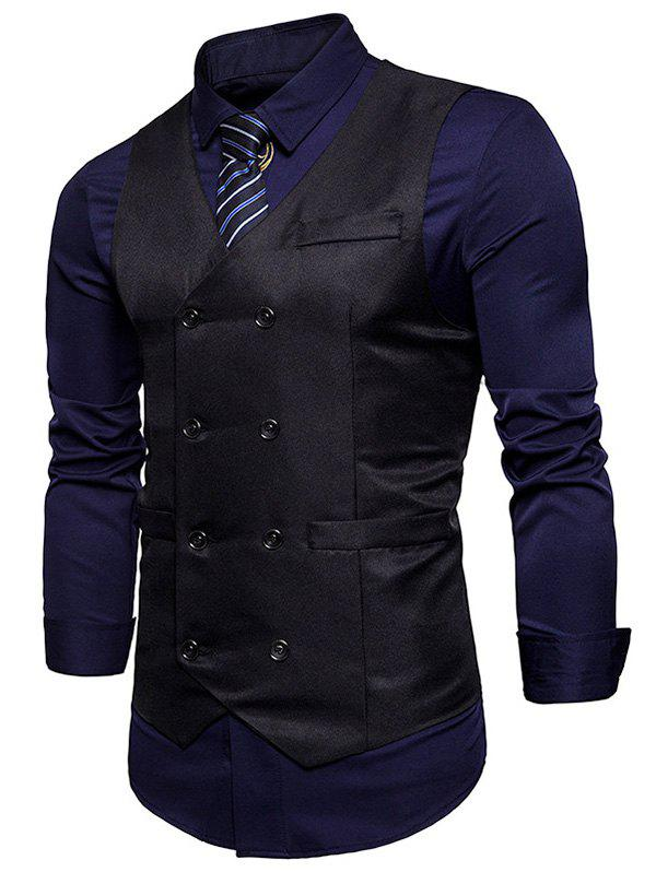 Outfit Double Breasted V Neck Waistcoat