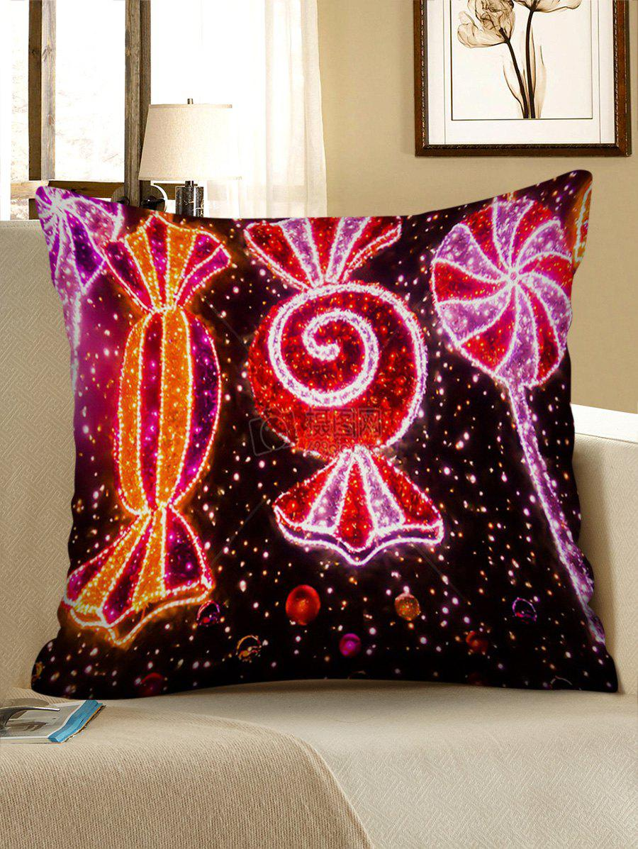 Trendy Christmas Candy Printed Pillowcase