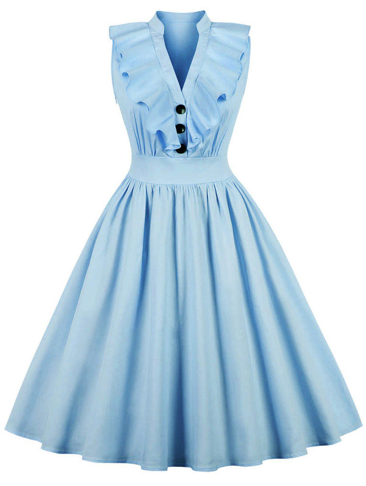 Outfit Vintage Ruffled Pin Up Dress