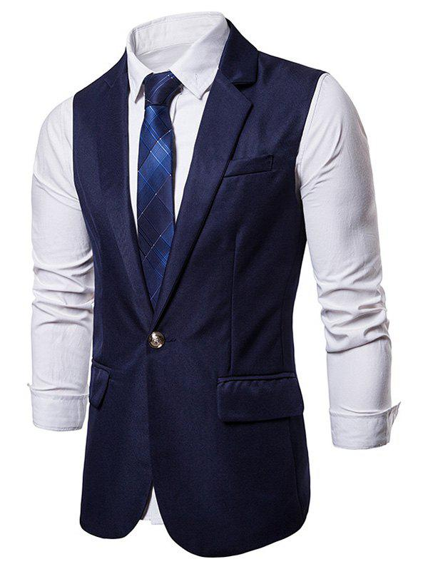 Cheap Single Button Flap Pocket Waistcoat