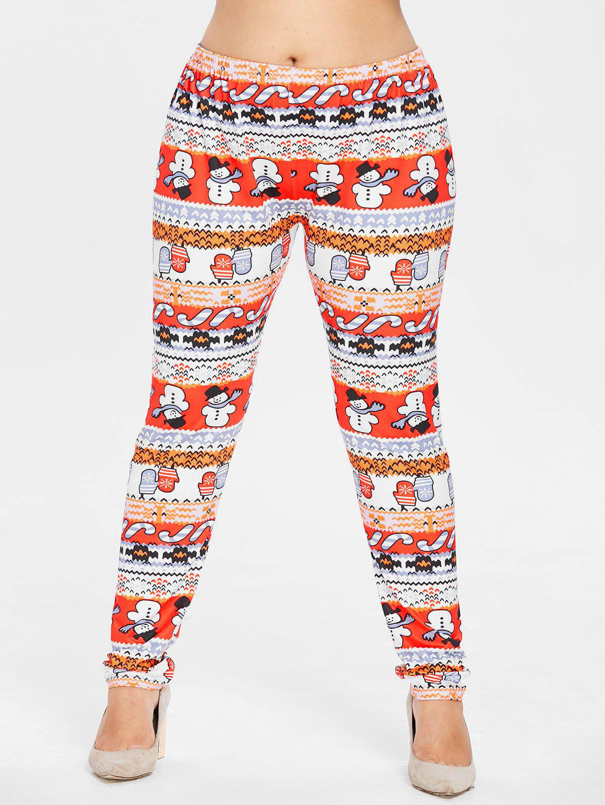 Outfit Plus Size Snowman Christmas Leggings