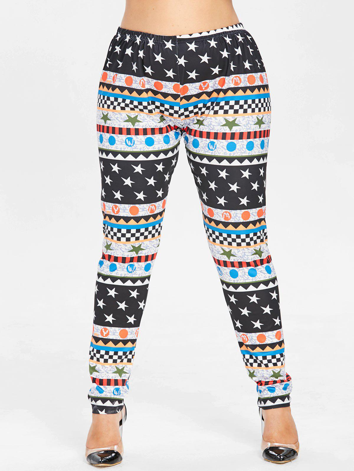 9f3333ef54505 2019 Plus Size Graphic Christmas Leggings