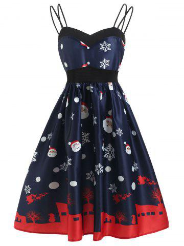 Cami Christmas Print A Line Dress