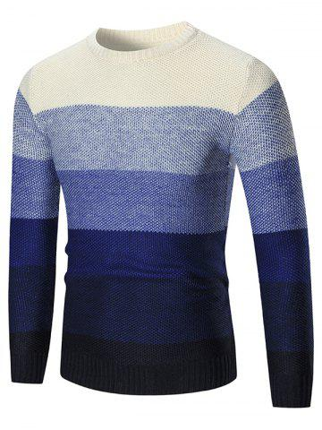 Long Sleeve Color Block Pullover Sweater