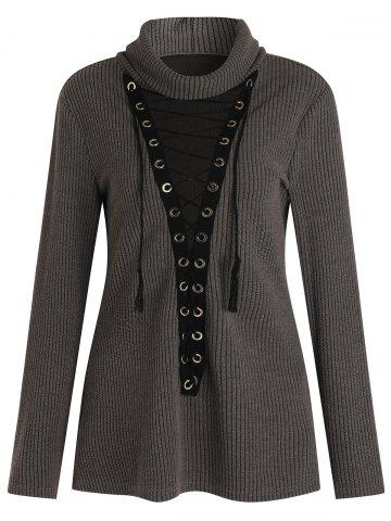 Plus Size Criss-cross Sweater