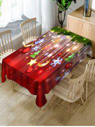 Christmas Hanging Decorations Print Fabric Waterproof Tablecloth -