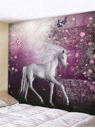 Flower Unicorn Print Tapestry Wall Hanging Decoration -