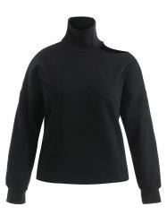 Plus Size Cut Out High Neck Sweatshirt -