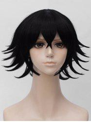 Short Side Bang Tail Upwards Straight Anime Cosplay Synthetic Wig -