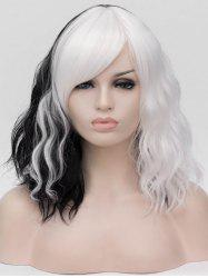 Medium Side Bang Colorful Natural Wavy Cosplay Synthetic Wig -