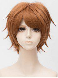 Short Side Bang Layer Straight Anime Cosplay Synthetic Wig -