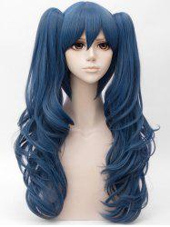 Long Side Bang Two Wavy Ponytail Straight Cosplay Anime Synthetic Wig -
