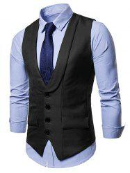 Solid Color Single Breasted Waistcoat -