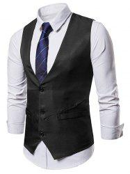 Irregularity Single Breasted Belt Design Waistcoat -