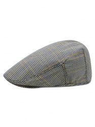Houndstooth Pattern Newsboy Hat -