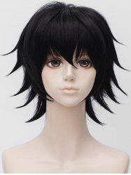 Anime Cosplay Short Side Bang Straight Synthetic Wig -