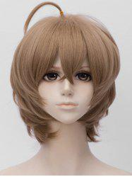 Short Side Bang Tail Adduction Straight Anime Cosplay Synthetic Wig -