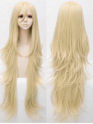 Long Slightly Curly Anime Cosplay Synthetic Wig -