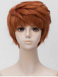 Anime Cosplay Short Side Bang Layer Straight Synthetic Wig -