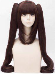Long Full Bang Two Ponytail Tail Adduction Straight Anime Cosplay Synthetic Wig -