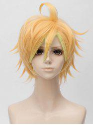 Short Side Bang Tail Upwards Layer Straight Anime Cosplay Synthetic Wig -