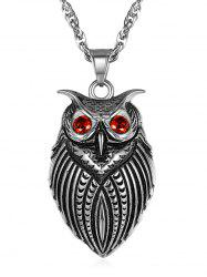 Alloy Owl Pendant Necklace -