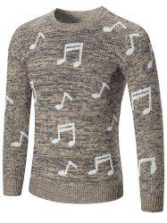 Sweat à Capuche Pull-over Notes de Musique Imprimée -