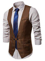 Two Button Belt Design Waistcoat -