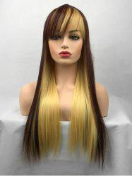 Long Colormix Straight Party Cosplay Synthetic Wig -