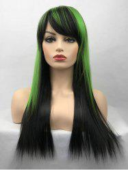 Long Side Bang Colormix Straight Party Cosplay Synthetic Wig -