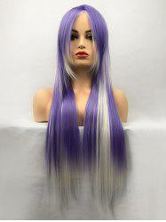 Long Side Bang Colomix Straight Party Synthetic Wig -