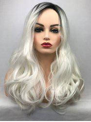 Inclined Bang Long Ombre Wavy Party Synthetic Wig -