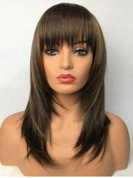 Полный Bang Long Straight Party Capless Synthetic Wig -