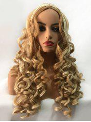 Long Middle Part Colormix Body Wavy Synthetic Wig -