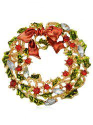 Christmas Bowknot Metal Leaves Brooch -
