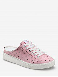 Polka Dot Lacing Canvas Slingback Sneakers -