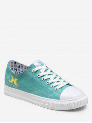 Embroidered Lacing Low Top Casual Sneakers -