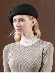 Stylish Knotted Solid Color Beret -
