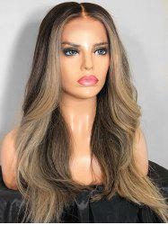 Middle Part Long Colormix Straight Party Synthetic Wig -