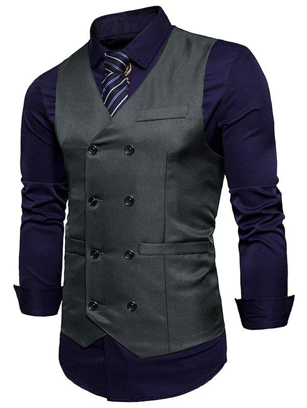 Sale Double Breasted V Neck Waistcoat