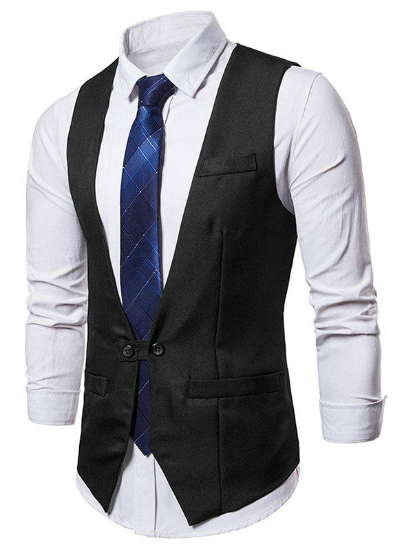 Online Two Button Belt Design Waistcoat