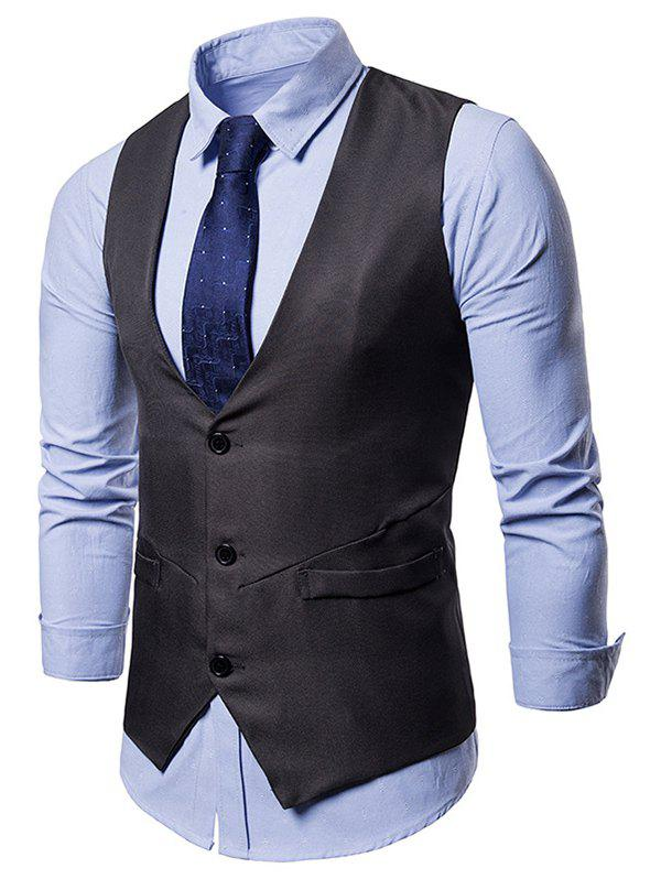 New Irregularity Single Breasted Belt Design Waistcoat