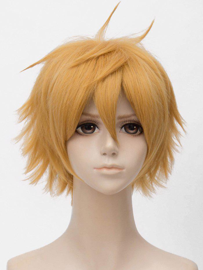 Cheap Short Straight Anime Cosplay Synthetic Wig